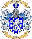 Vileneuves Family Coat of Arms from France