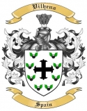 Vilhena Family Crest from Spain