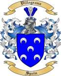 Villagrana Family Crest from Spain