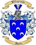 Villagrande Family Crest from Spain