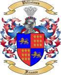 Villaines Family Crest from France