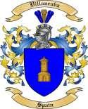 Villaneuva Family Crest from Spain