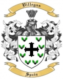 Villegas Family Crest from Spain