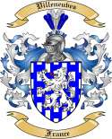 Villeneuves Family Crest from France