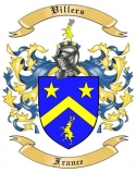 Villers Family Crest from France