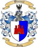 Vincenzi Family Crest from Italy