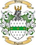 Vining Family Crest from England