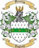 Vinning Family Crest from England