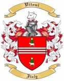 Vitoni Family Crest from Italy