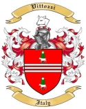 Vittozzi Family Crest from Italy