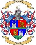 Vojvodic Family Coat of Arms from Serbia