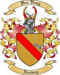 Von Haug Family Crest from Norway