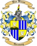 Von Klaus Family Crest from Germany