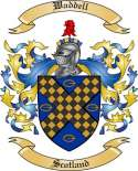 Waddell Family Crest from Scotland