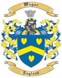 Wagar Family Crest from England