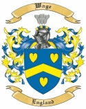Wage Family Coat of Arms from England