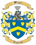 Wager Family Crest from England