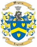 Wagers Family Crest from England