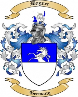 Wagner Family Crest From Germany By The Tree Maker
