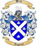Waid Family Coat of Arms from England