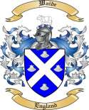 Waide Family Crest from England