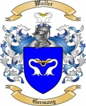 Waller Family Crest from Germany