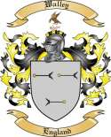 Walley Family Coat of Arms from England