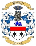 Wallpole Family Crest from Ireland