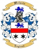 Walpole Family Crest from England
