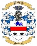 Walpole Family Crest from Ireland