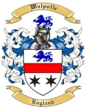 Walpolle Family Coat of Arms from England