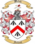 Walsh Family Crest from Ireland