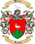 Walter Family Crest from France