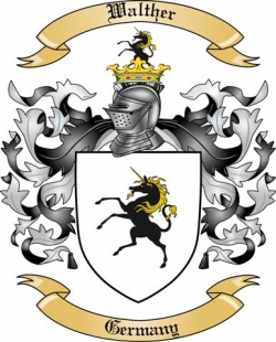 Walther Family Crest from Germany2