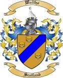 Waltho Family Crest from Scotlland