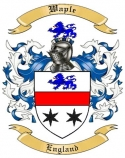 Waple Family Coat of Arms from England