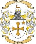 Warda Family Crest from England