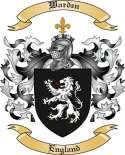 Warden Family Coat of Arms from England