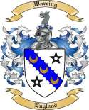 Wareing Family Coat of Arms from England