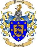 Warman Family Crest from England