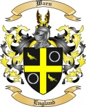 Warn Family Coat of Arms from England