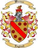Warnar Family Crest from England