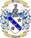 Waryng Family Coat of Arms from England