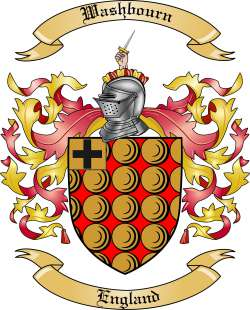 Washbourn Family Crest from England
