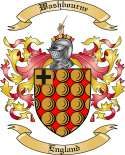 Washbourne Family Coat of Arms from England