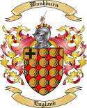 Washburn Family Coat of Arms from England