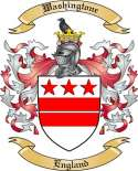 Washingtone Family Crest from England