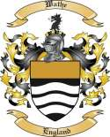 Wathe Family Coat of Arms from England