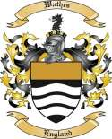 Wathes Family Coat of Arms from England