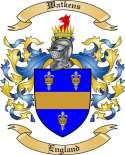Watkens Family Coat of Arms from England